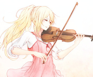 anime, shigatsu wa kimi no uso, and violin image