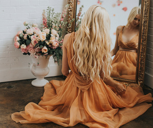 dress, hair, and style image