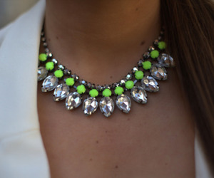 necklace, neon, and pretty image