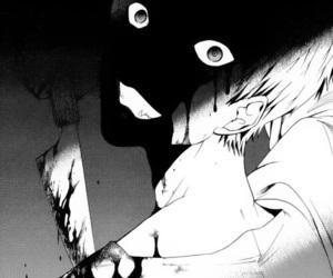anime, Halloween, and manga black and white image
