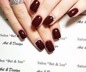 diamonds, nails, and red image