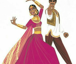 painting, indian wedding, and indian dance image