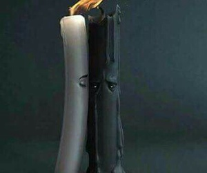 candle, fire, and white image