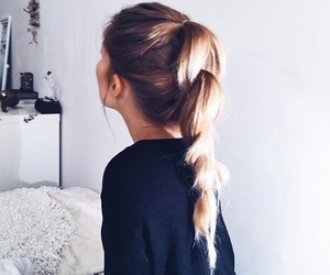 hair, hairstyle, and clothes image