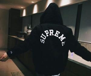 supreme, black, and boy image