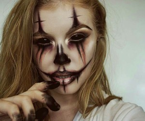 clown, fx, and makeup image