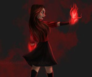 Marvel and scarlett witch image