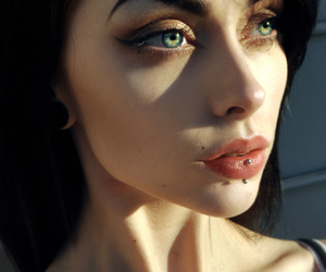 piercing, girl, and eyes image