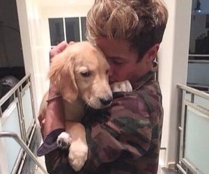 cameron dallas, dog, and puppy image