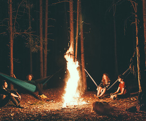 fire, friends, and memories image