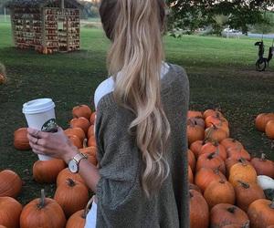 pumpkin, autumn, and hair image