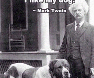 dog, quote, and mark twain image