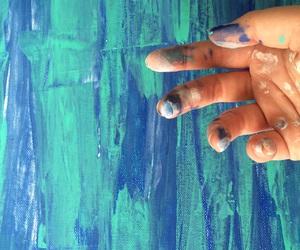 abstract, acrylic, and aqua image