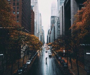 city, autumn, and street image