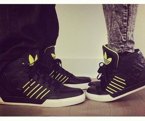 adidas, couple, and sneakers image