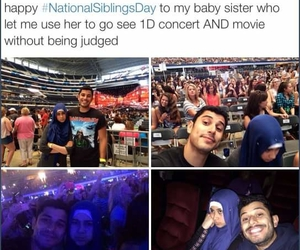 one direction, funny, and siblings image