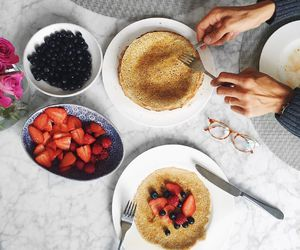 breakfast, fresh, and pancakes image