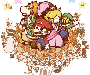 Bowser, luigi, and mario image