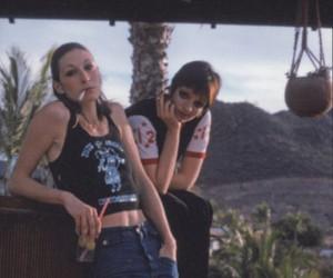 actress, Anjelica Huston, and grunge image