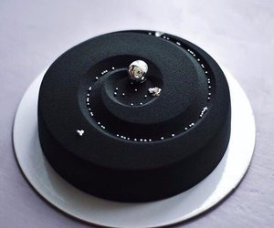 black, cake, and food image