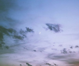 clouds, hipster, and moon image