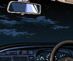 pixel, car, and night image