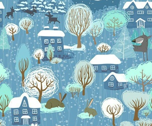 pattern, wallpaper, and winter image