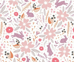 pattern, flower, and cute image