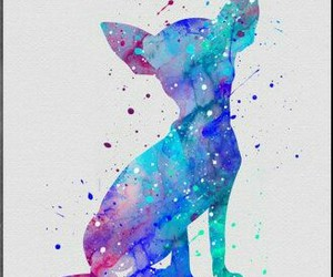 chihuahua, painting, and tattoo image