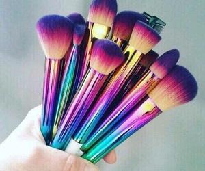 makeup, Brushes, and make up image