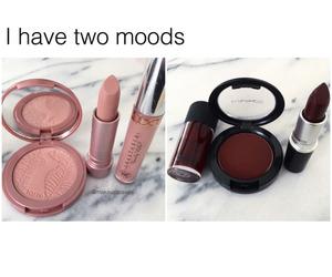 makeup, mood, and lipstick image