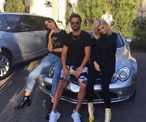 kylie jenner, kendall jenner, and scott disick image