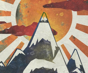 abstract, landscape, and mountains... image