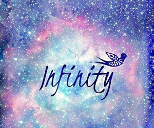 infinity, bird, and galaxy image
