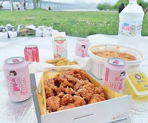 Chicken, food, and เกาหลี image