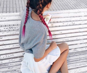 hair, style, and adidas image