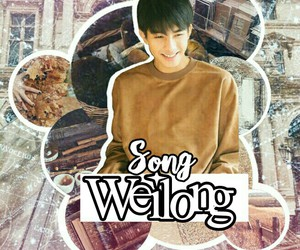 aesthetic, Collage, and song weilong image