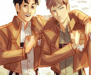 attack on titan, jean, and marco image
