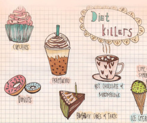diet, cupcake, and donuts image