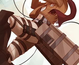 attack on titan, mikasa, and snk image