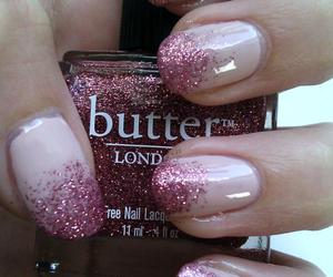 glitter, nail design, and pink image