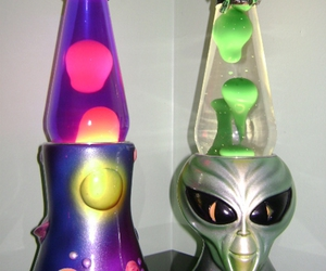 alien, cool, and lamp image
