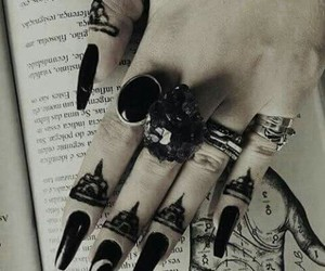 alternative, black, and nails image
