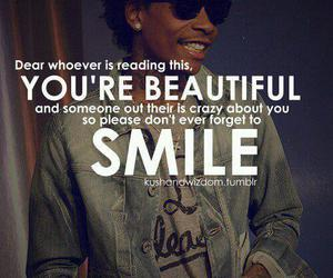 smile, beautiful, and quote image