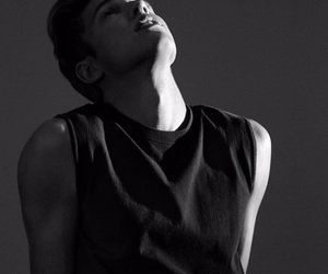 cameron dallas, black and white, and Dallas image