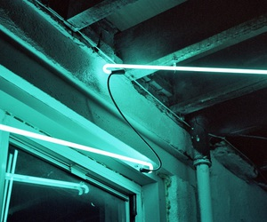 neon, blue, and grunge image