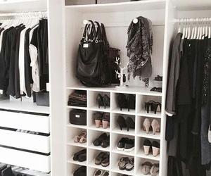closet, decoration, and clothes image