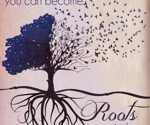 quotes, wings, and roots image