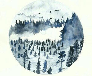 forest, art, and snow image