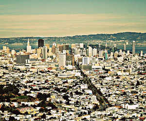 city, san francisco, and Twin Peaks image